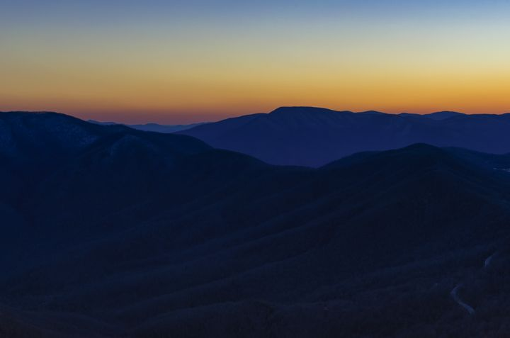 Layers of Mountain and Dusk - Sean Toler Photo