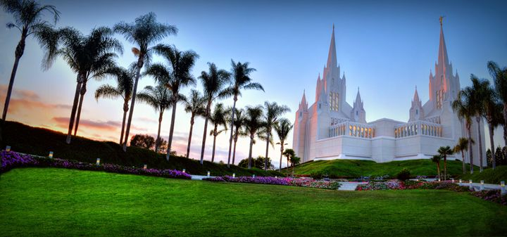 LDS San Diego Temple at Dusk - Sean Toler Photo