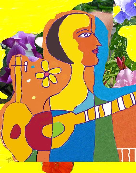 Musician in a garden. - Mix and Match