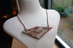Rustic Ceramic Necklace
