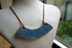 Blue Speckled Ceramic Necklace