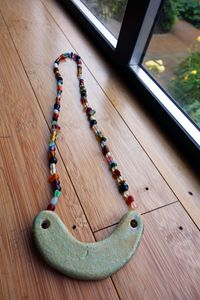 Ceramic & Vintage Glass Necklace