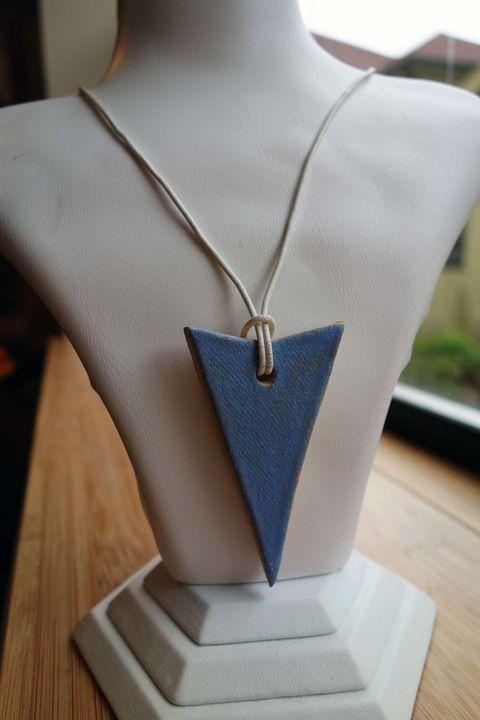 Blue Ceramic Arrow Necklace - Rebecca Rau