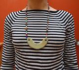 Ceramic & Mardi Gras bead necklace