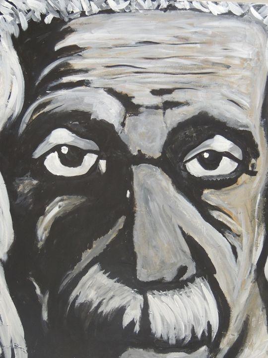 Albert Einstein - Eyes on the wall