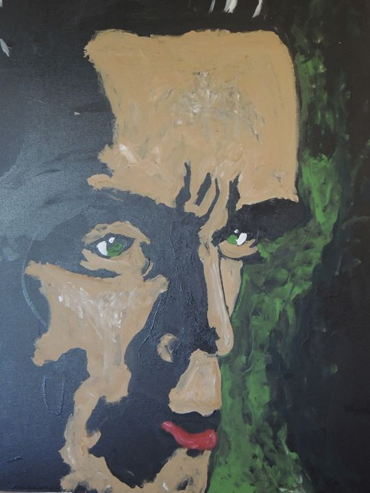 Original Acrylic on Canvas Arnold - Eyes on the wall