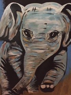 Baby Elephant - Eyes on the wall