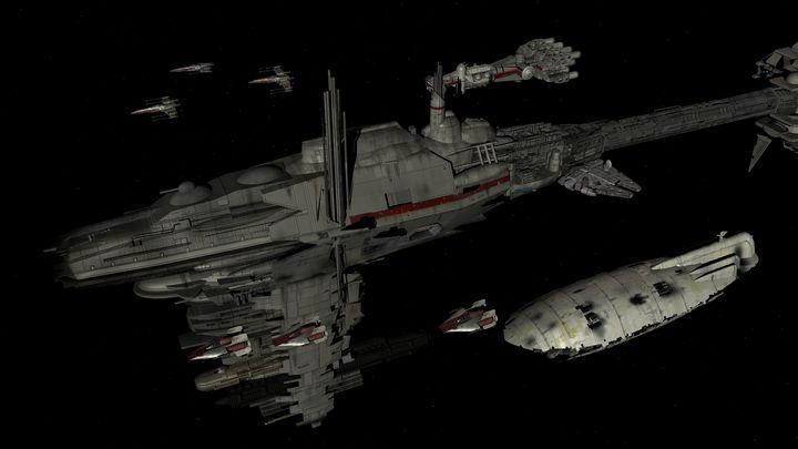 Falcon docked - Silverdragoncr8