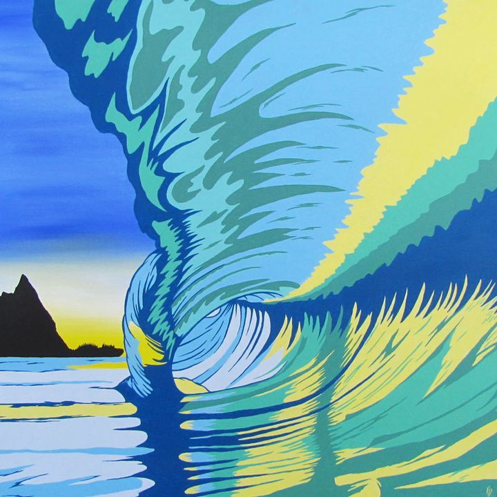 Tunnels beach - Surf art