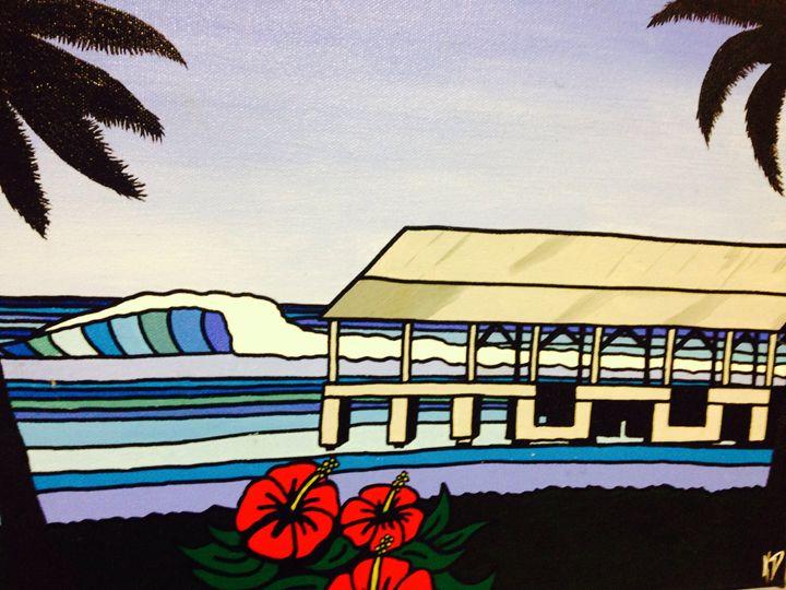 Hanalei bay pier - Surf art
