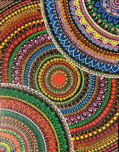 Mandala handpainted