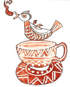 cup & bird