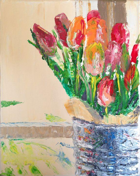 Fresh Cut Tulips - Brandonorbanoskyart.com