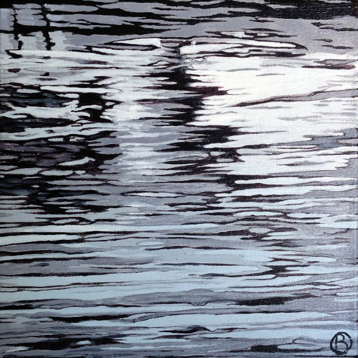 Black and White Ripples - Brandonorbanoskyart.com