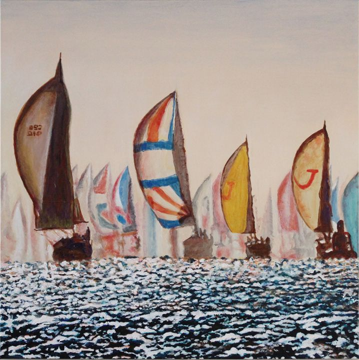 Sailboat Racers - Brandonorbanoskyart.com