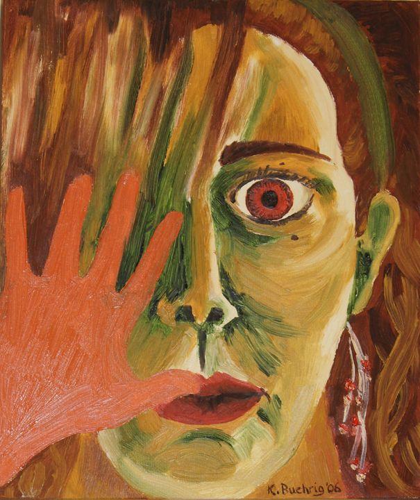 Internal struggle - self portrait - Just Add Colour