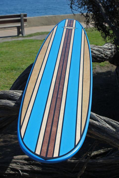 7 Foot Wood Wall Art Surfboard - Hawaiijoessurfboards