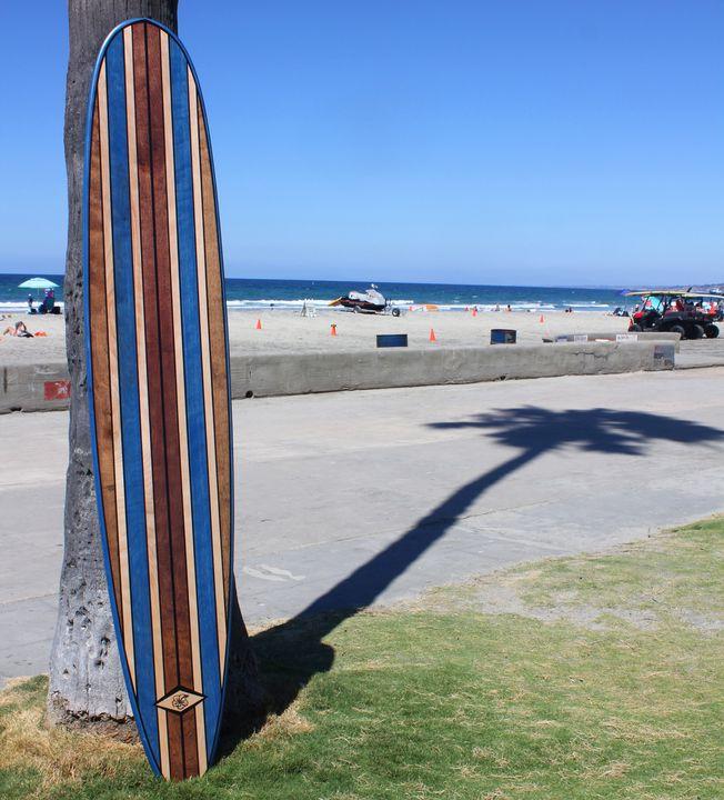 7 Foot Wood Wall Art Surfboard Decor - Hawaiijoessurfboards
