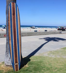 7 Foot Wood Wall Art Surfboard Decor