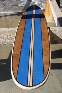 7 foot wood surfboard