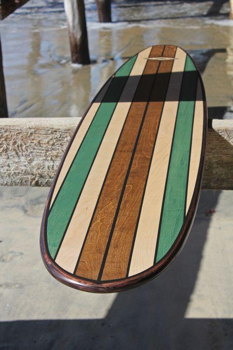 7 Foot Wood Wall Art Surfboard Decor Hawaiijoessurfboards