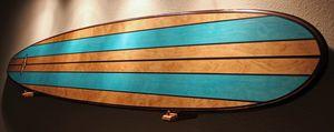 NICE 7 Foot Wood Wall Art Surfboard - Hawaiijoessurfboards
