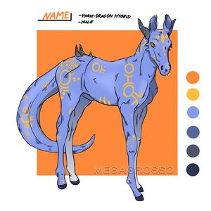 Dragon-horse foal adoptable