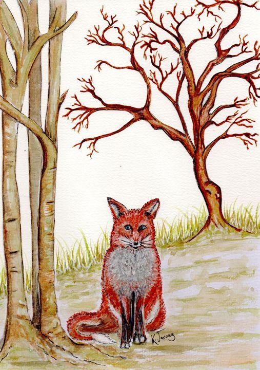 fox in the wild - Love art