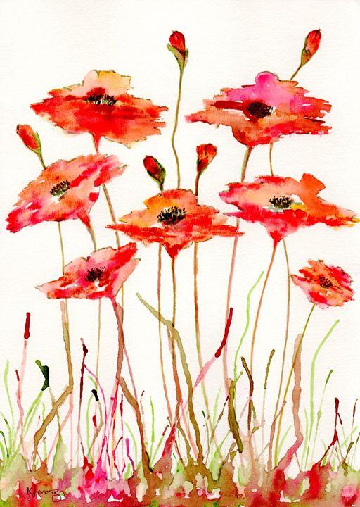 messy poppys - Love art