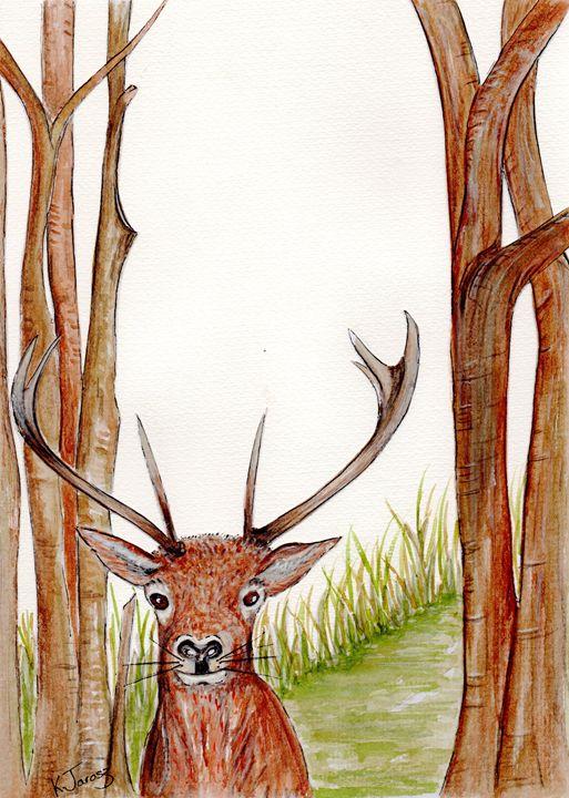 Deer in the wild - Love art