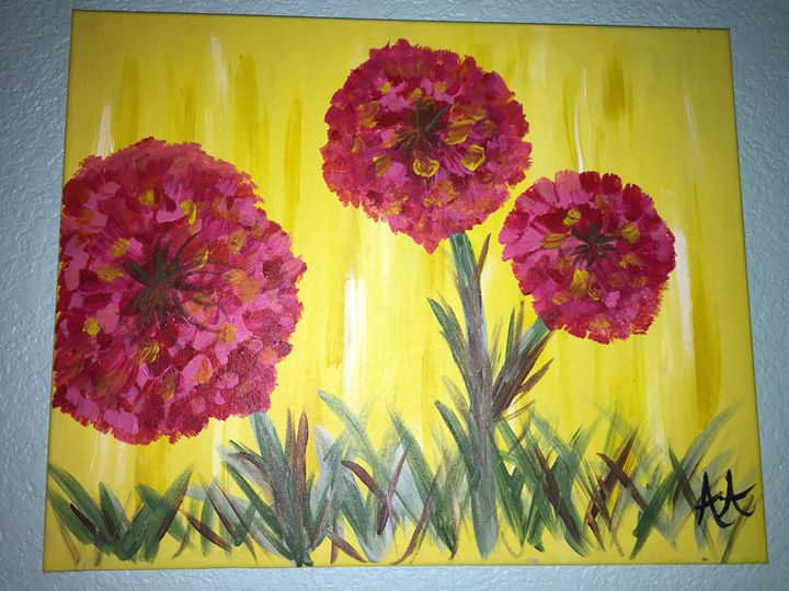 Flowers in the Meadows - Ashley A's Art