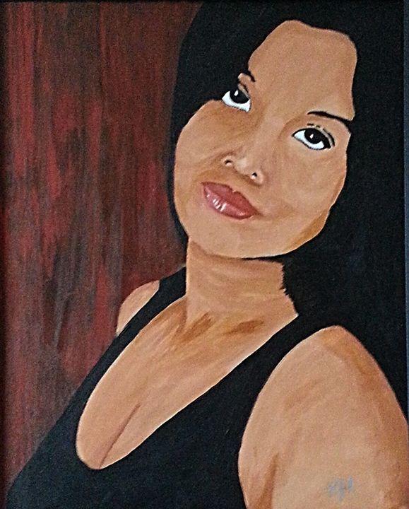 Portrait of a woman in black - Kenneth Regan