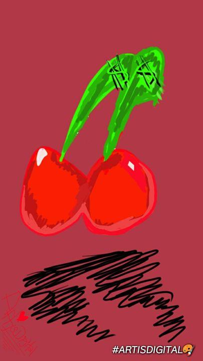 "2 ""Cherry signs"" 🍒 - Art is digital"