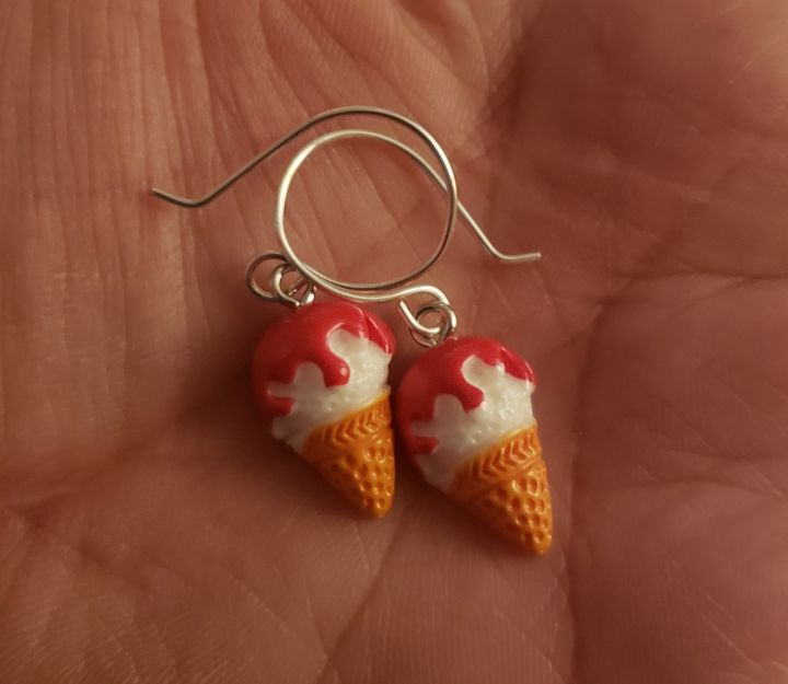 Ice Cream Cone Earrings - Twisted Little Kara
