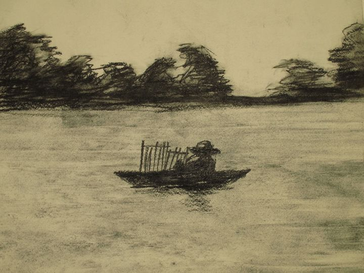 Alone on the river - KHẢI GALLERY \