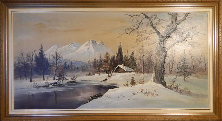 Painting of a snowy landscape - Own gallery