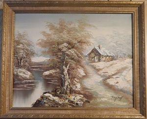 Snowy landscape by Tony Deff