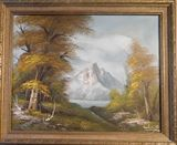 Original oil painting with frame