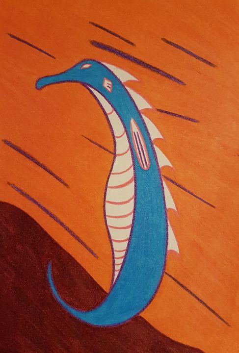 Blue Seahorse - BeeBeeRockZ69