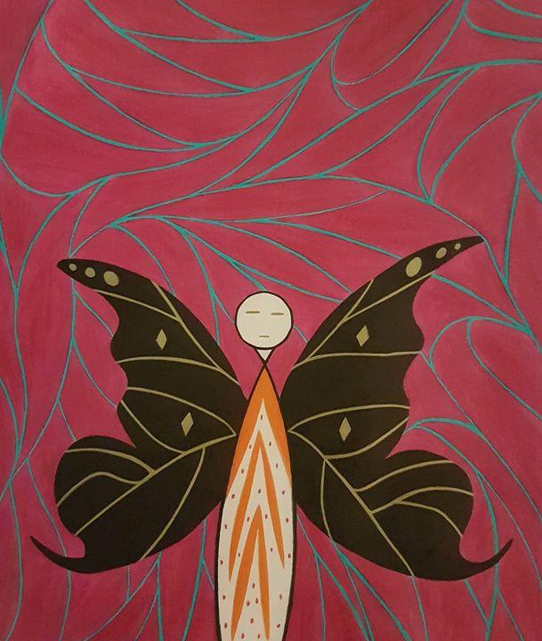 The Golden Eyed Butterfly - BeeBeeRockZ69