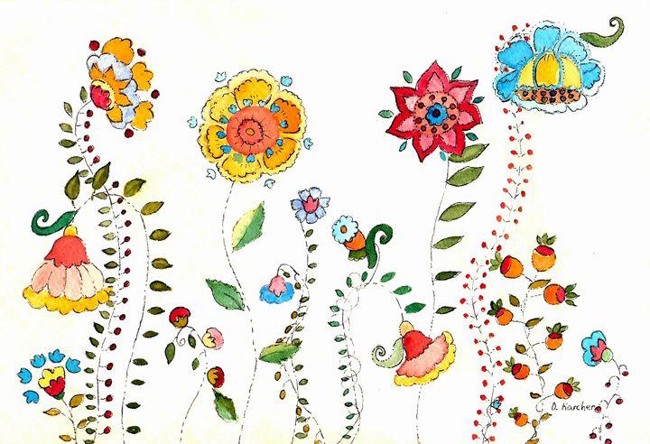 Mod Flowers - DmkArt