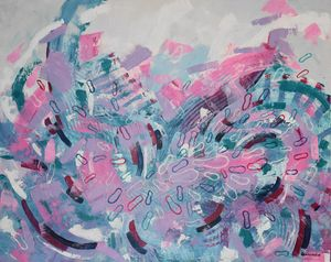 Abstract acrylic painting Energy 2