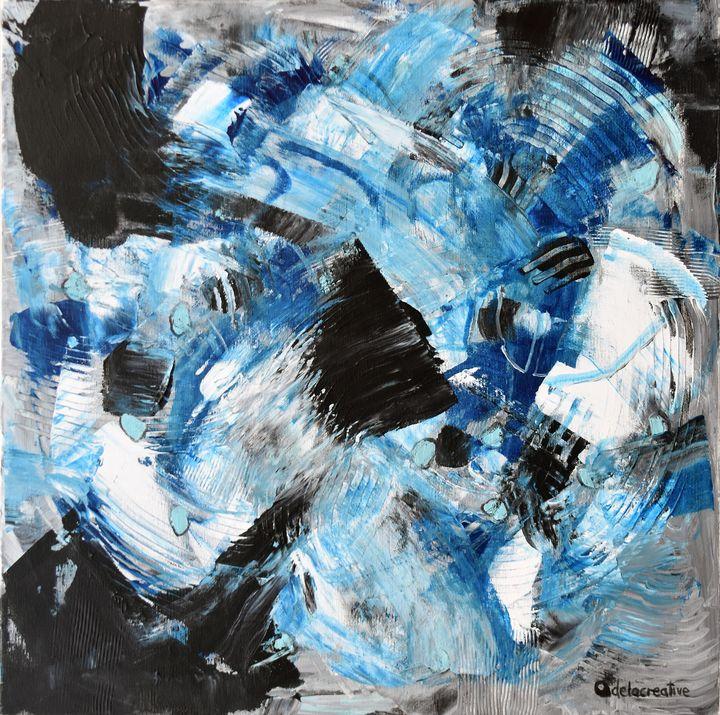 Abstract acrylic painting Energy 6 - Adelacreative