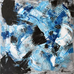 Abstract acrylic painting Energy 6