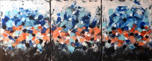 Abstract acrylic painting Energy 8