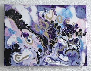 Lilla liquid abstract painting