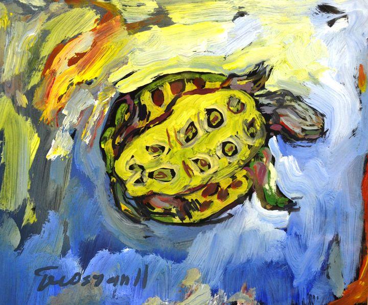 """Turtle In The Water"" - Akunts Gallery"
