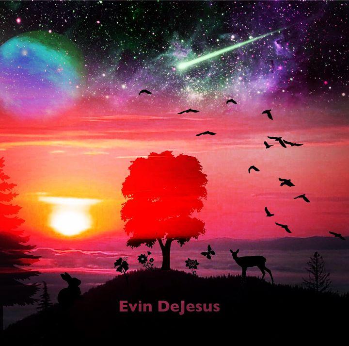 Silhouette of beauty - Evin DeJesus Art Gallery