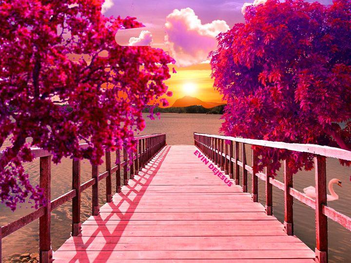 The Dock of Love - Evin DeJesus Art Gallery