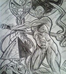 Nude male sketch 18